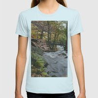 Autumnal Woodland. Padle… Womens Fitted Tee Light Blue SMALL