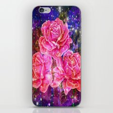 Roses with sparkles and purple infusion iPhone & iPod Skin