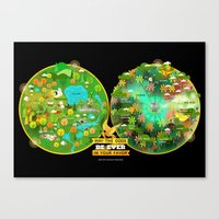 Hunger Games Arenas Canvas Print