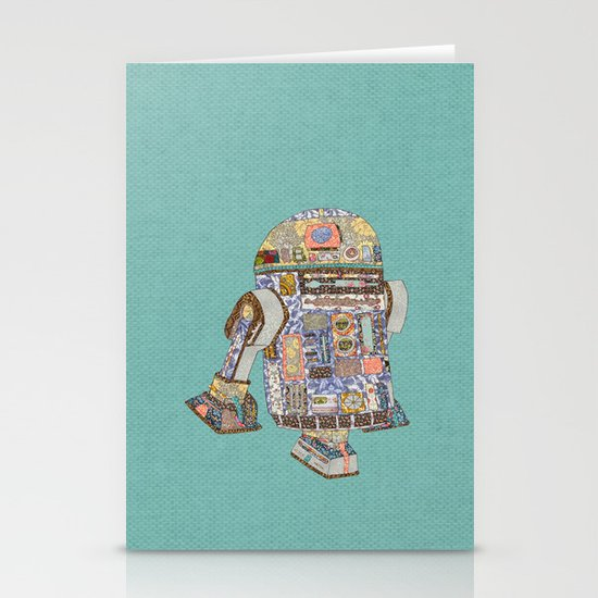 R2D2 crashed into a flower shop Stationery Card