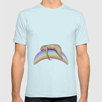 Nap (Sloth & Rainbow 2) Mens Fitted Tee Light Blue SMALL