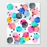 Festive Dots Canvas Print