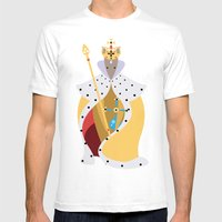 Queen Wolf Mens Fitted Tee White SMALL