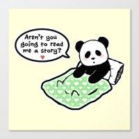 Read panda a story Canvas Print