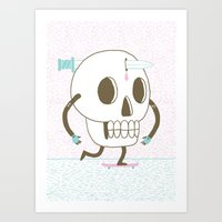As I Skate Through The V… Art Print