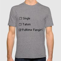 Fulltime Fangirl Mens Fitted Tee Tri-Grey SMALL