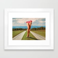 Stems Analog Framed Art Print