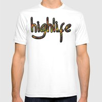 Highlife Mens Fitted Tee White SMALL