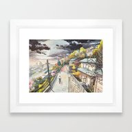 Framed Art Print featuring Bicycle Boy 08 by Mateusz Urbanowicz