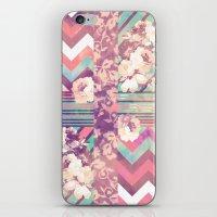 Retro Pink Turquoise Flo… iPhone & iPod Skin