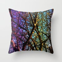 Colourful Tree Throw Pillow