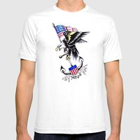 American Traditional Mens Fitted Tee White SMALL