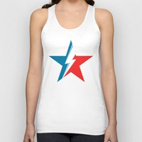 Bowie Star white Unisex Tank Top