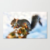 Hunting for Food  Canvas Print