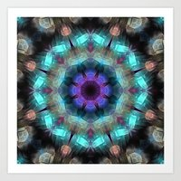 Textured Turquoise Abstr… Art Print