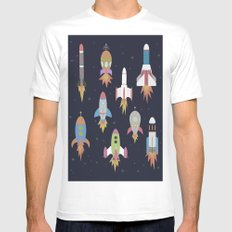 Rockets! White SMALL Mens Fitted Tee