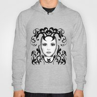 Black and white ornamental face Hoody