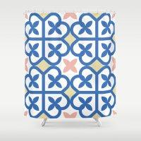 Floor Tile 3 Shower Curtain