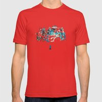 Tree Mens Fitted Tee Red SMALL