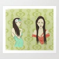 Princesas Art Print