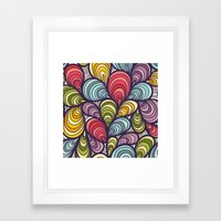 Color Cells Framed Art Print