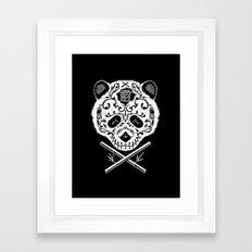 Panda De La Muerte Framed Art Print