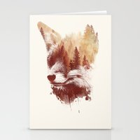 Stationery Card featuring Blind fox by Robert Farkas