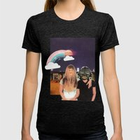 Friendship Womens Fitted Tee Tri-Black SMALL