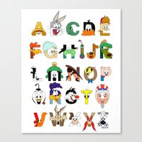 That's Alphabet Folks Canvas Print