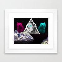 my woman Framed Art Print