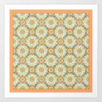 Brocade Mandala Art Print