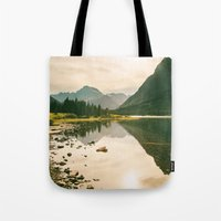 Mountain Reflecting The … Tote Bag