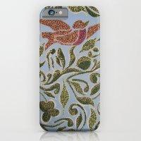 iPhone & iPod Case featuring Bird & leaves by Melanie Schumacher