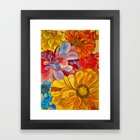 Flower Water Framed Art Print