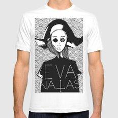 eva natas Mens Fitted Tee SMALL White