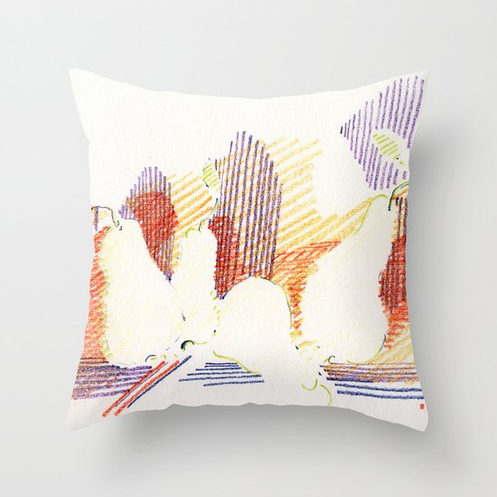 CRAYON LOVE - Shadows  Throw Pillow