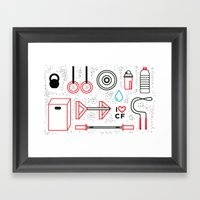 CrossFit Love Framed Art Print