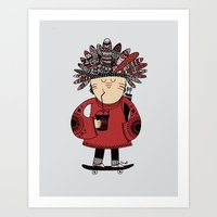 Native American Skater B… Art Print