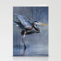 Leaving The lake Stationery Cards
