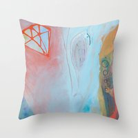 Crystalization Throw Pillow