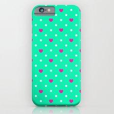 Polka hearts iPhone 6s Slim Case