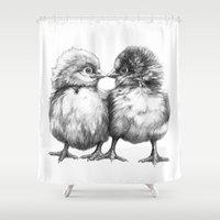 Baby Chicks - Little Kiss G133 Shower Curtain