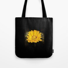 Beautiful Sunflower with Dark Brown Background Tote Bag