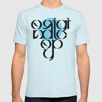 Original Copy Mens Fitted Tee Light Blue SMALL