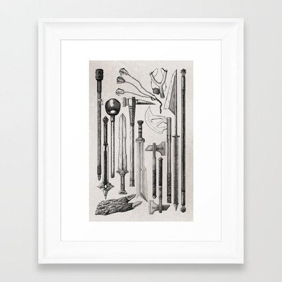 thirteen dwarves Framed Art Print