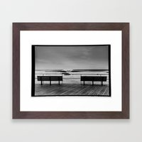 Two Benches Framed Art Print