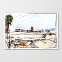 Landing in California Canvas Print