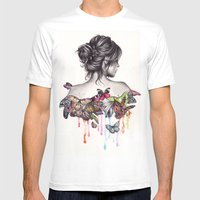 Butterfly Effect Mens Fitted Tee White SMALL