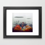 Framed Art Print featuring Autumn by Tanya_tk