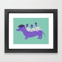 Taxi-Dog (mint) Framed Art Print